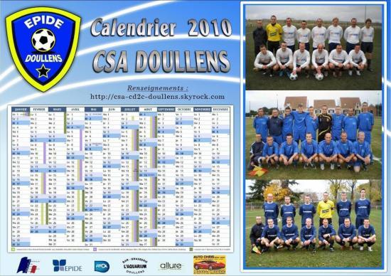 calendrier CSA 2010
