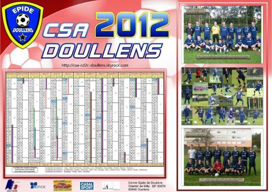 calendrier CSA 2012