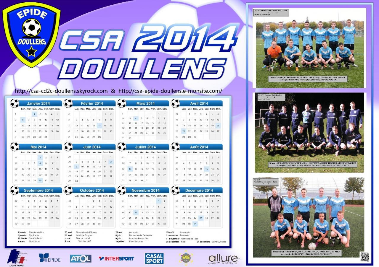 Calendrier CSA 2014