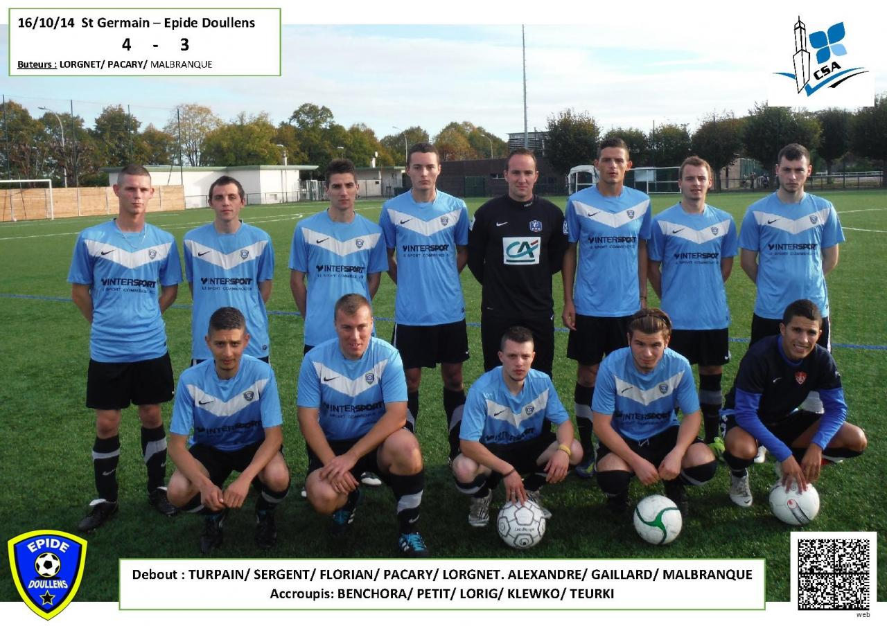Equipe Amical St Germain 16.10.14