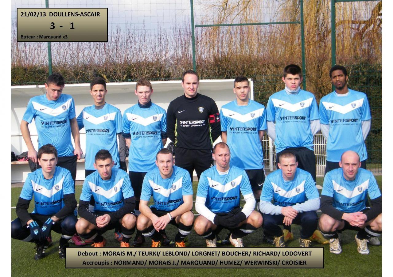 6ème Match du Championnat FCD Doullens-Ascair 21.02.13
