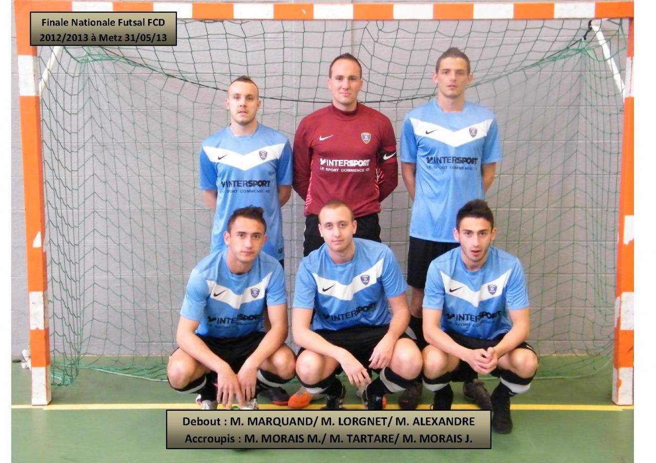 Equipe Finale Nationale FCD futsal 31.05.13