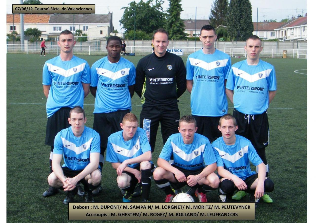 Equipe tournoi Valenciennes 07.06.12