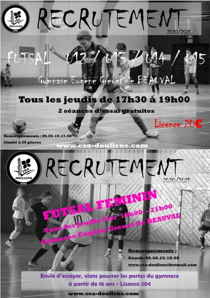 Affiche recrutement u12u15 et feminines