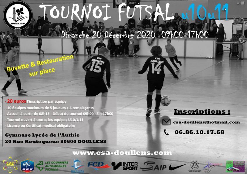 Affiche tournoi futsal u10 u11 doullens 20 12 20