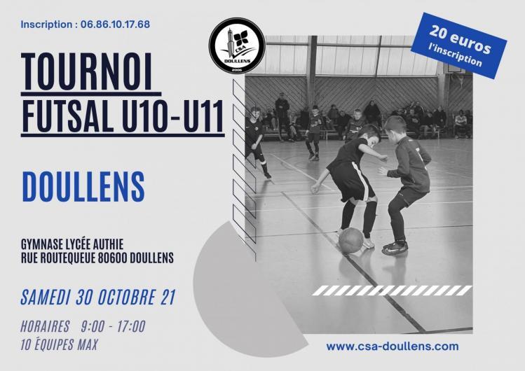 Affiche tournoi futsal u10u11 30 10 21