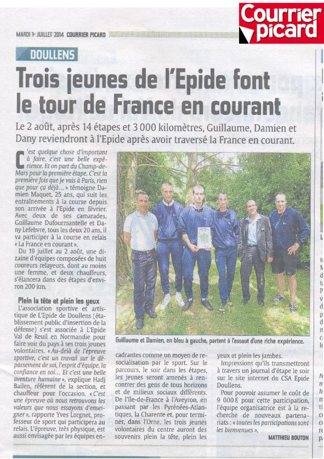 Article courrier picard 01 07 14