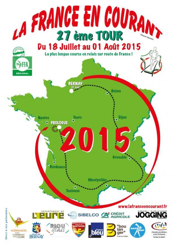 Carte france en courant 2015