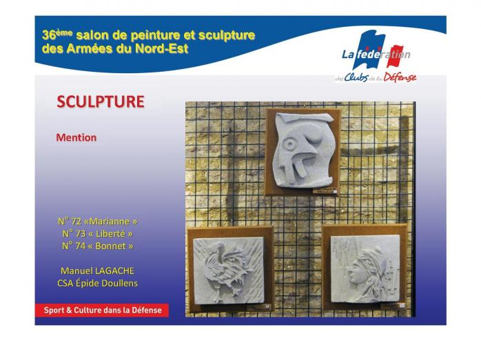 Sculpture m lagache salon culturel